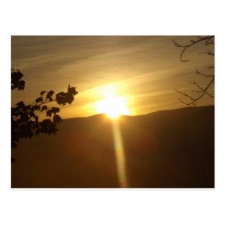 Carte Postale Lever de soleil dans les terriers Vermont