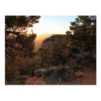 Carte postale - lever de soleil de canyon grand