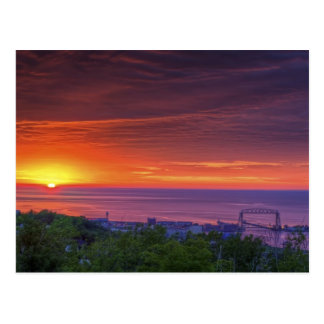 Carte Postale Lever de soleil de Duluth