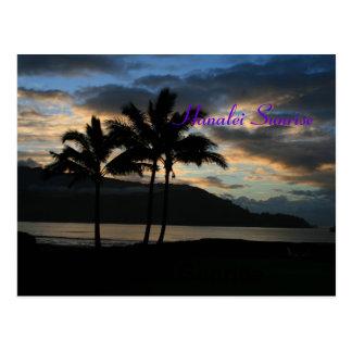 Carte Postale Lever de soleil de Hanalei