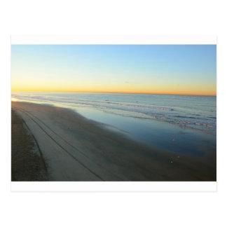 Carte Postale Lever de soleil de Huntington Beach à la plage