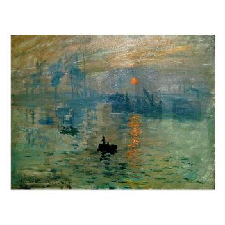 Carte Postale Lever de soleil de l'impression de Monet (soleil