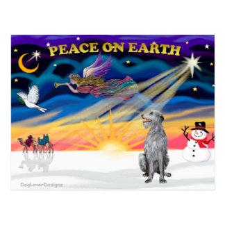 Carte Postale Lever de soleil de Noël - limier écossais