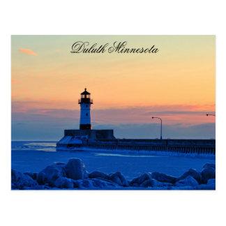 Carte Postale Lever de soleil de phare