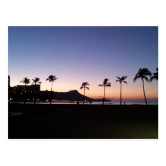 Carte Postale Lever de soleil de Waikiki