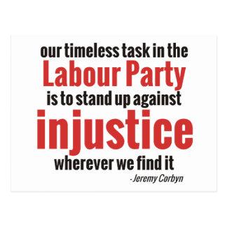 Carte Postale Levez-vous contre l'injustice