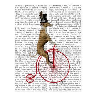 Carte Postale Lévrier sur le vélo rouge de quart de penny de