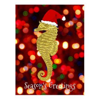 Carte Postale L'hippocampe de Père Noël personnalisent