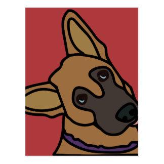 Carte Postale Libby la bande dessinée de chien de berger