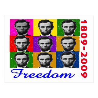 Carte Postale LIBERTÉ d'Abe Lincoln 1809 2009 cadeaux uniques