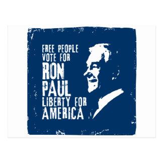 Carte Postale Liberté de Ron Paul pour l'Amérique