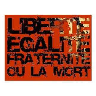 Carte Postale Liberte Egalite Fraternite : Révolution française