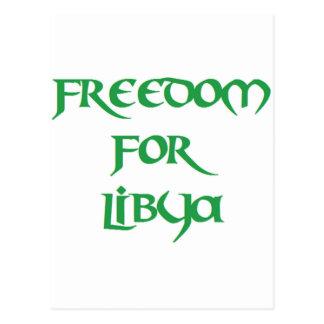 Carte Postale Liberté pour la Libye