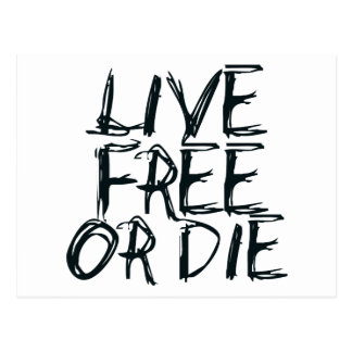 Carte Postale Libres vivants ou meurent