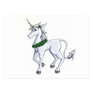 Carte Postale Licorne de Noël