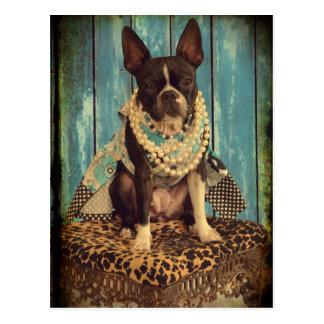 Carte Postale Lierre Boston Terrier