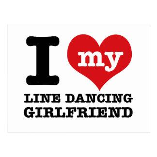 Carte Postale ligne conceptions d'amie de danse