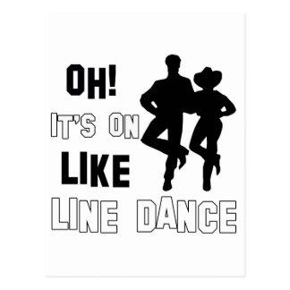 Carte Postale Ligne conceptions de danse