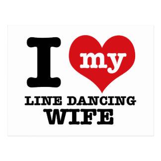 Carte Postale Ligne épouse de danse