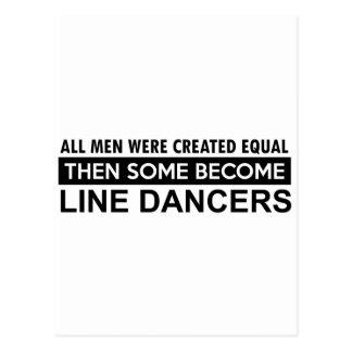 Carte Postale Ligne fraîche conceptions de danse