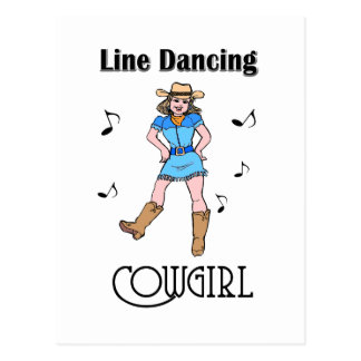 "Carte Postale ""Ligne occidentale cow-girl de danse """