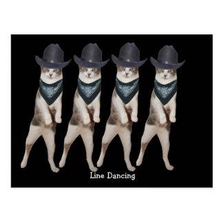 Carte Postale Ligne personnalisable chat de danse