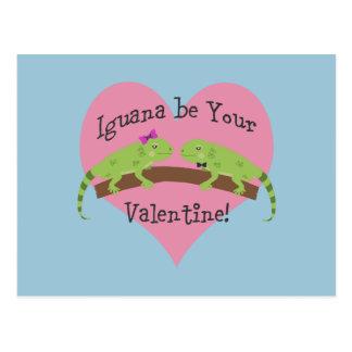 Carte Postale L'iguane soit votre Valentine