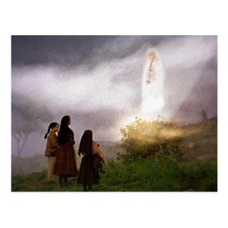 Carte Postale L'image de dévotion d'apparition de Fatima