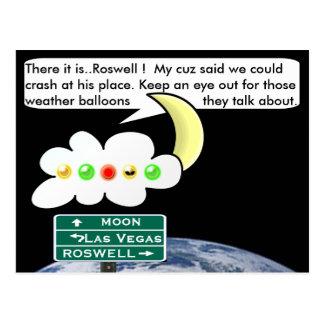 Carte Postale Limite de Roswell