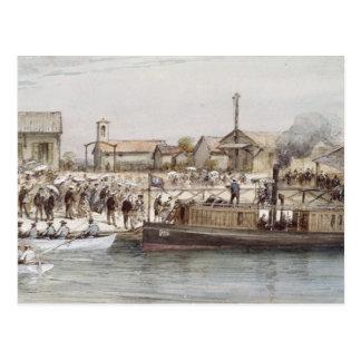 Carte Postale L'inauguration du canal de Suez