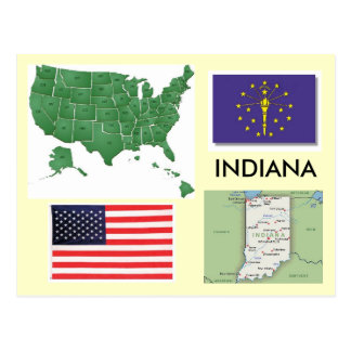 Carte Postale L'Indiana, Etats-Unis