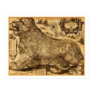 Carte Postale Lion Belgicus de Pays-Bas et de la Belgique