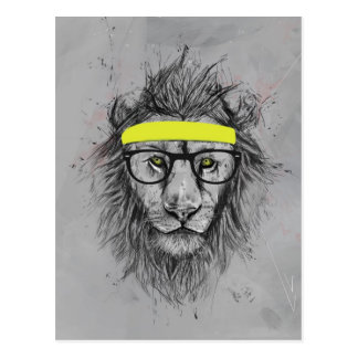 Carte Postale Lion de hippie