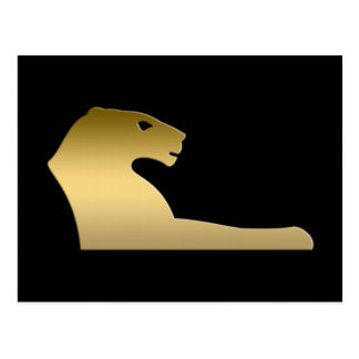Carte Postale Lion égyptien antique - déesse Sekhmet