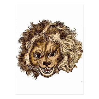 Carte Postale LION, le lion riant