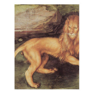 Carte Postale Lion par Albrecht Durer