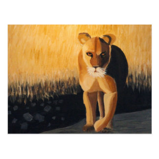 Carte Postale Lionne