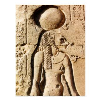 Carte Postale Lionne de Sekhmet hiéroglyphique