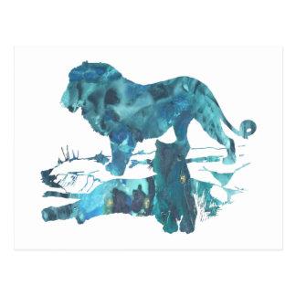 Carte Postale Lions