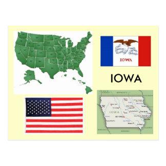 Carte Postale L'Iowa, Etats-Unis