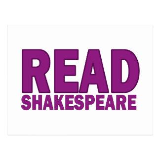 Carte Postale Lisez Shakespeare