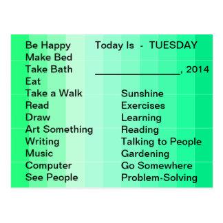 Carte Postale Liste quotidienne d'outil vivant adaptatif pour