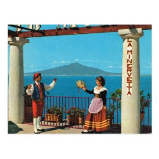 Carte Postale L'Italie vintage, Sorrente, costume traditionnel