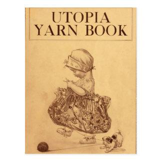 Carte Postale Livre de fil d'Utopie