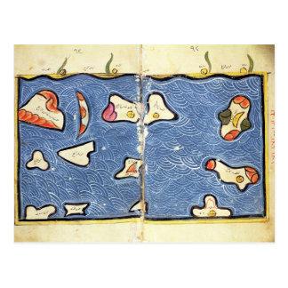 Carte Postale L'Océan Indien, d'un atlas