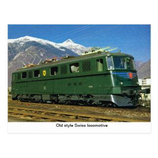 Carte Postale Locomotive de Suisse de style ancien