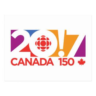 Carte Postale Logo 2017 de CBC/Radio-Canada