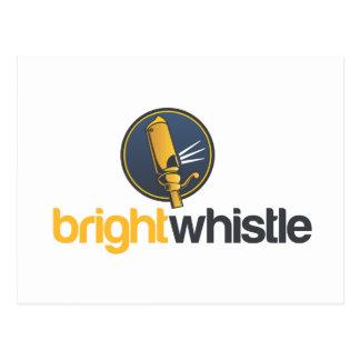 Carte Postale Logo de BrightWhistle empilé