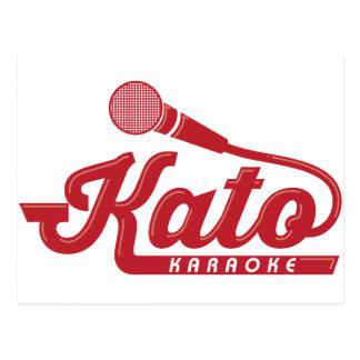 Carte Postale Logo de karaoke de Kato