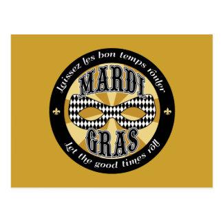 Carte Postale Logo de mardi gras